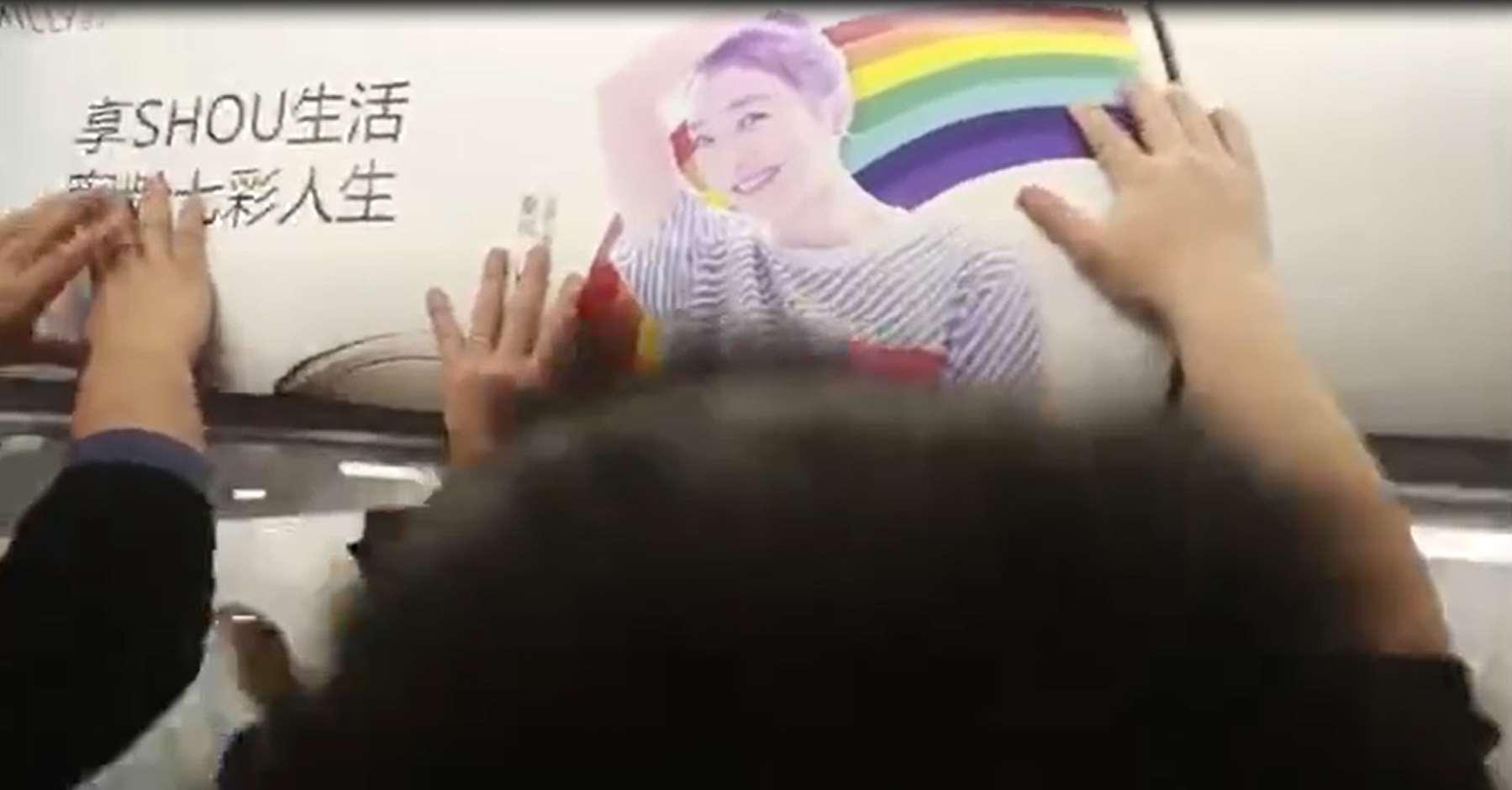 飞机LED广告视频